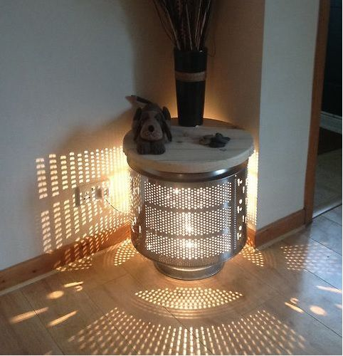 recycler un tambour de machine laver voici 20 id es. Black Bedroom Furniture Sets. Home Design Ideas