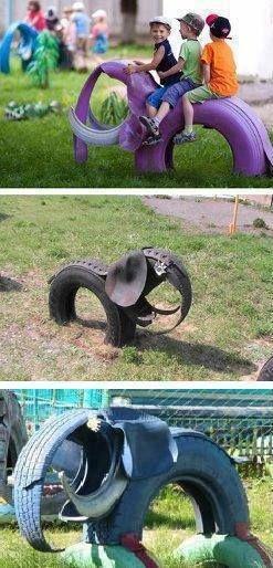 riciclo creativo pneumatici 5