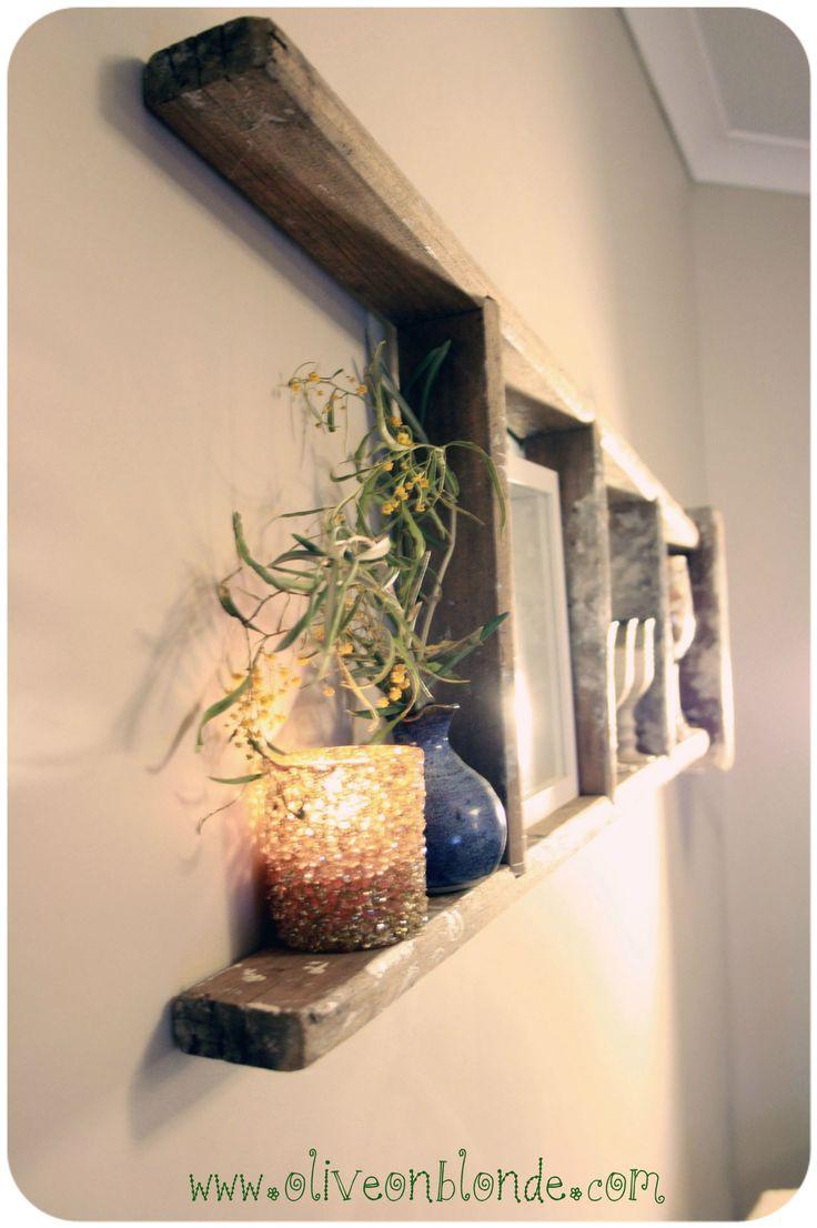 Deco Avec Une Echelle En Bois décorer avec la vieille échelle! voici 30 idées