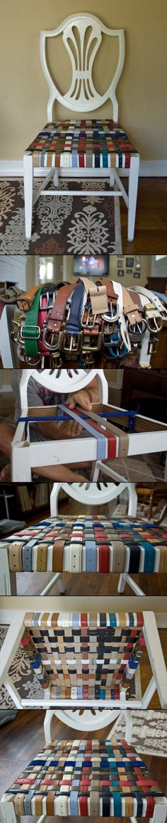 riciclo creativo vecchie cinture 20