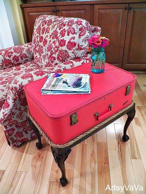 recycler les vieilles valises
