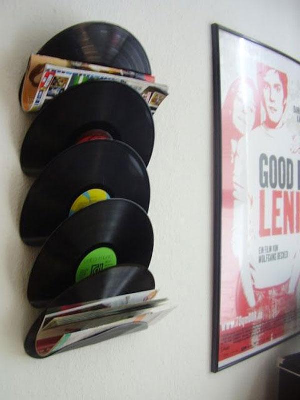 Déco avec des vieux vinyles