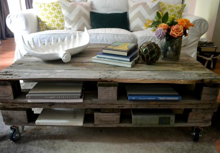 Transformer une palette en une superbe table basse 53 id es - Table en palette bois ...