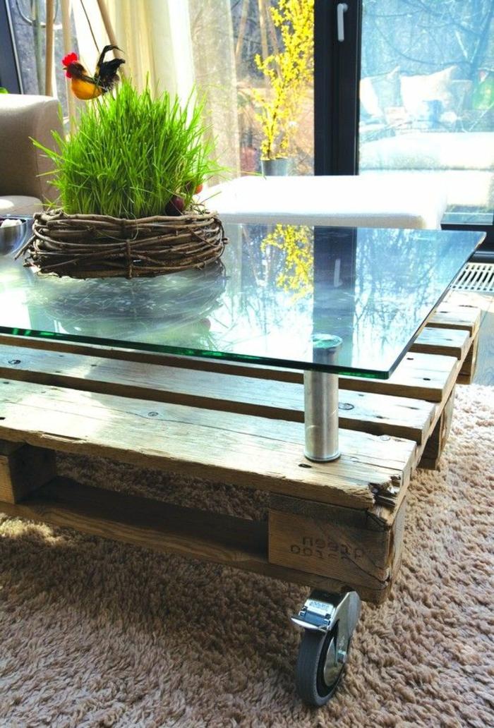 Gut bekannt Transformer une palette en une superbe table basse! 53 idées AO93