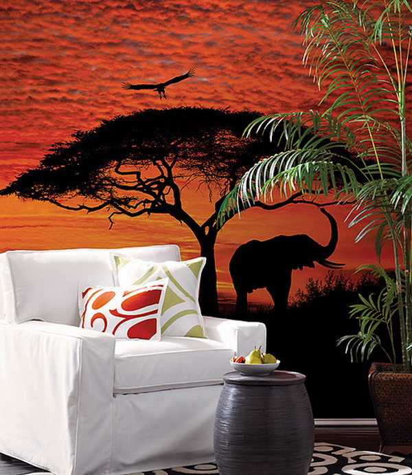 Awesome-Look-of-Elephant-Kids-Murals-Design