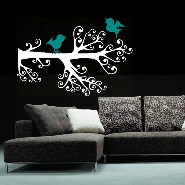 Blue-Birds-Living-Rooms-Wall-Murals