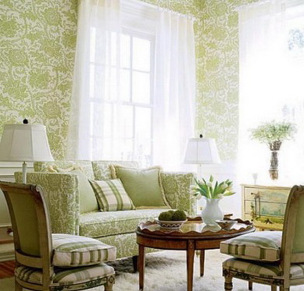 Classic-Living-Room-Murals-with-Green-Interior-Design