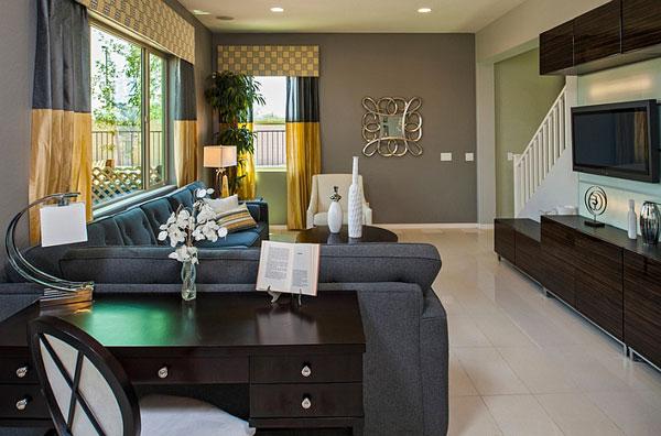Déco jaune et gris dans le salon! 25 idées créatives...