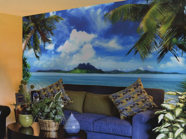 Tropical-Living-Room-Beach-Wall-Mural