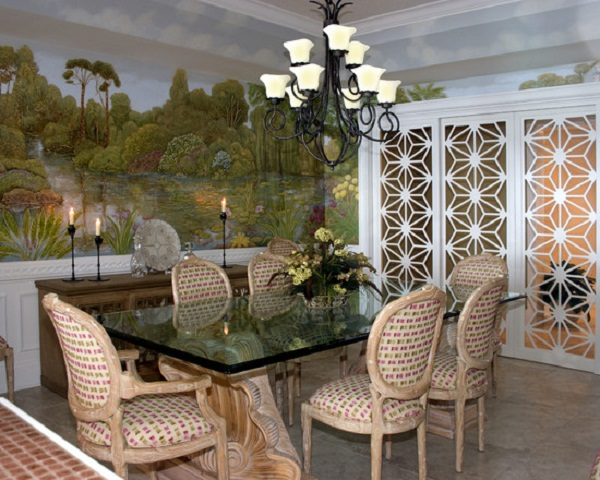 Wonderful-Tropical-Rain-Forest-Murals-on-Dining-Room-Interior