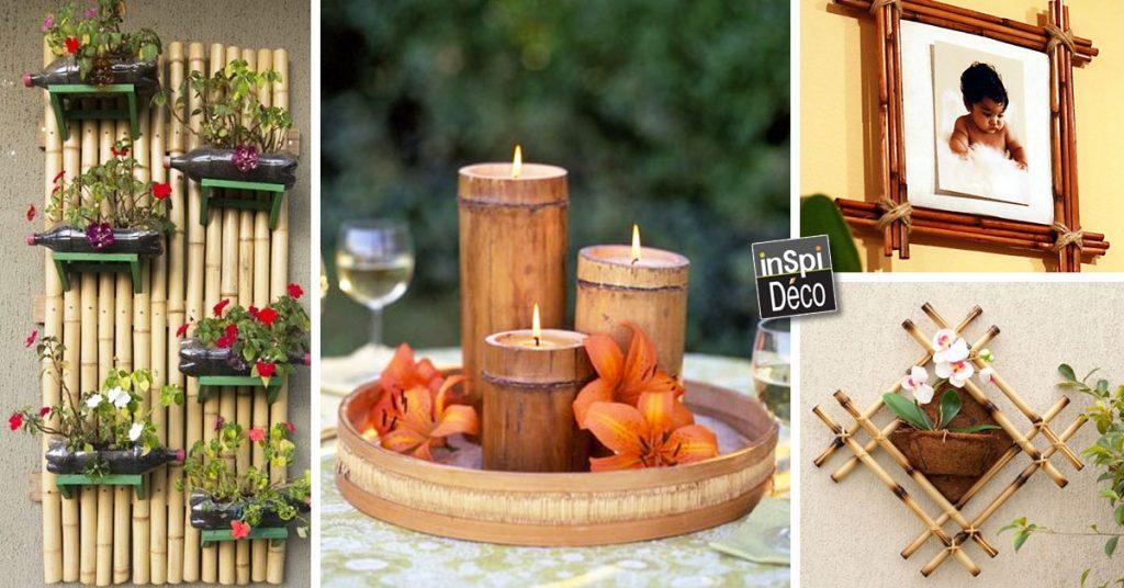 Déco originales avec du bambou! Voici 20 idées...