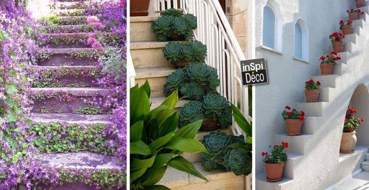 decorer-escalier-avec-des-fleurs