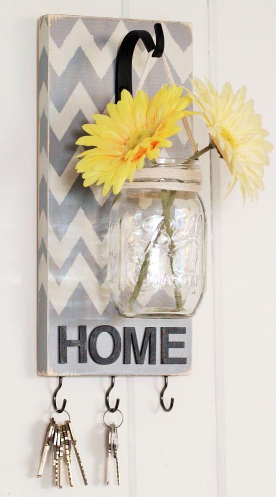 Décorations créatives avec palettes et bocaux en verre recyclés