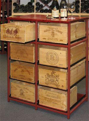 riciclo creativo casse di vino 16