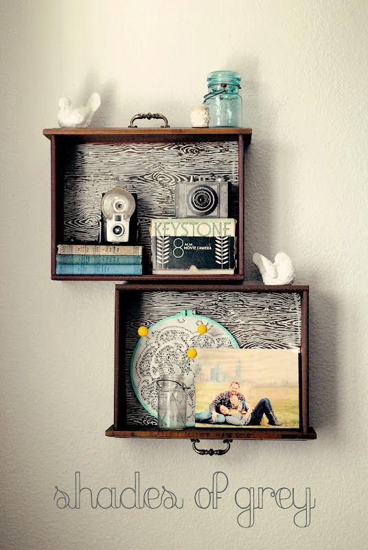 riciclo creativo cassetti comodini 7