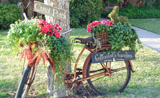 un vase vélo