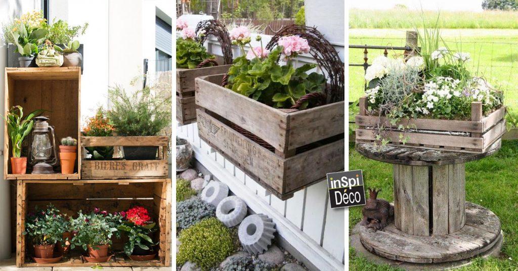Décorer le jardin avec des cagettes en bois! Voici 20 idées...