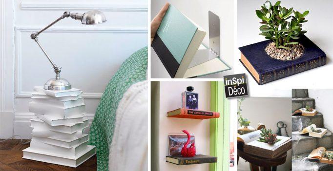 Déco avec des livres! Voici 28 idées créatives