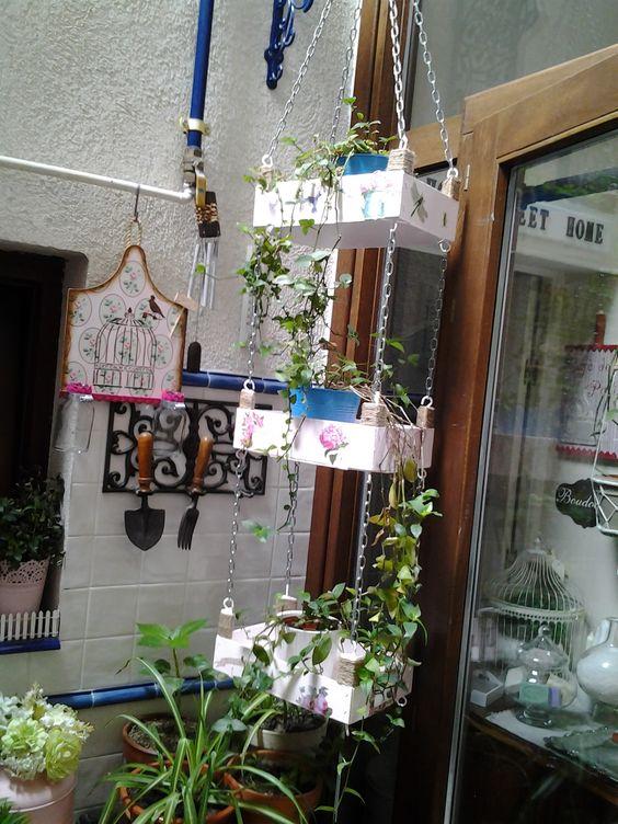 decorare con cassette in legno 14