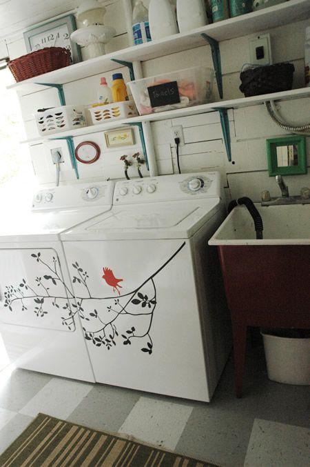 Décorer la machine à laver