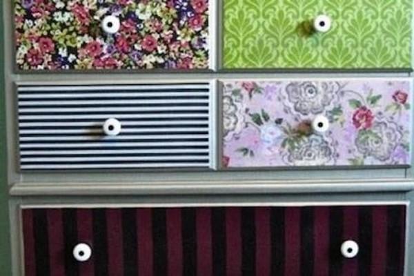 decorazione mobile con carta da parati 2