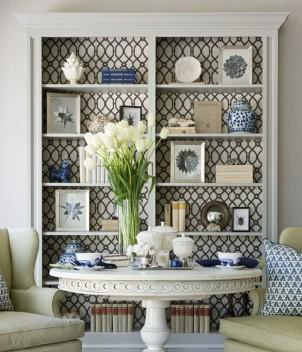 relooker un meuble avec du papier peint voici 20 id es. Black Bedroom Furniture Sets. Home Design Ideas