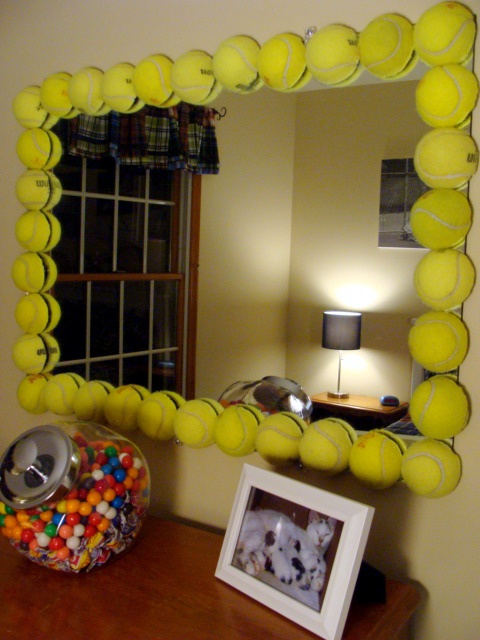 Riciclo creativo vecchie palline da tennis