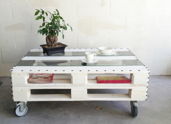 table recycled materials. A Coffee Table With Recycled Materials