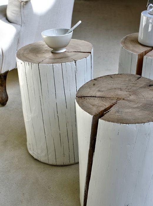 tavolo tronco fai da te 5 - Table Basse Tronc D Arbre