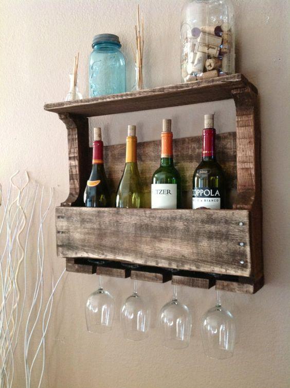 meubles en palette de bois pour ranger votre vin! 18 idées... - Idee Arredamento Pallet