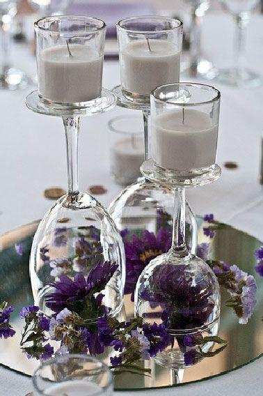 bicchiere candela fai da te 1