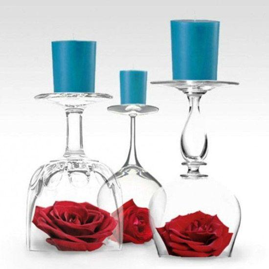 bicchiere candela fai da te 10