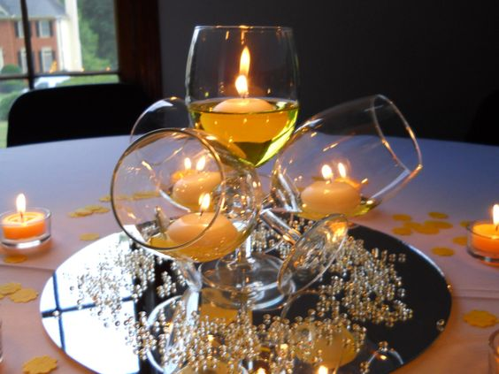 Bicchieri candele fai da te