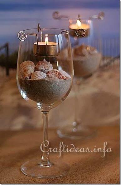 bicchiere candela fai da te 13