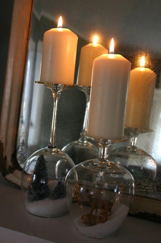 Des verres bougies