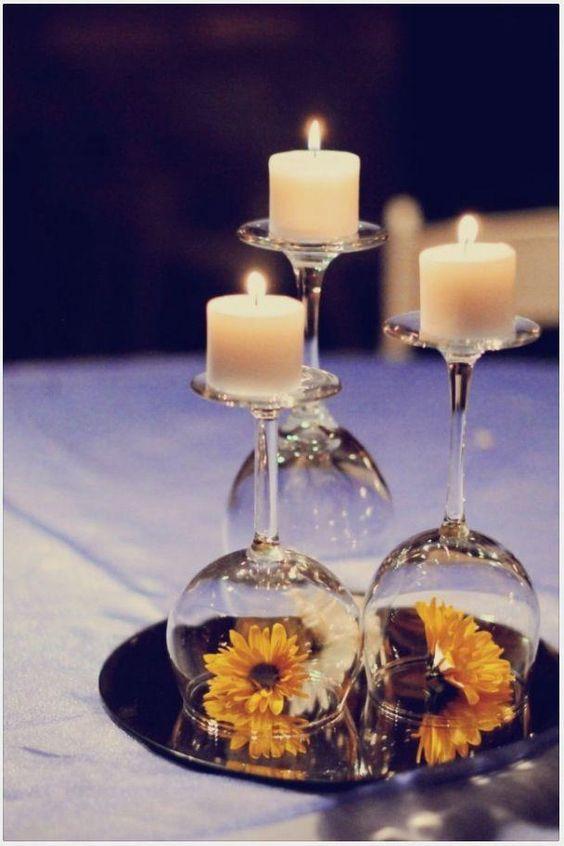 bicchiere candela fai da te 2