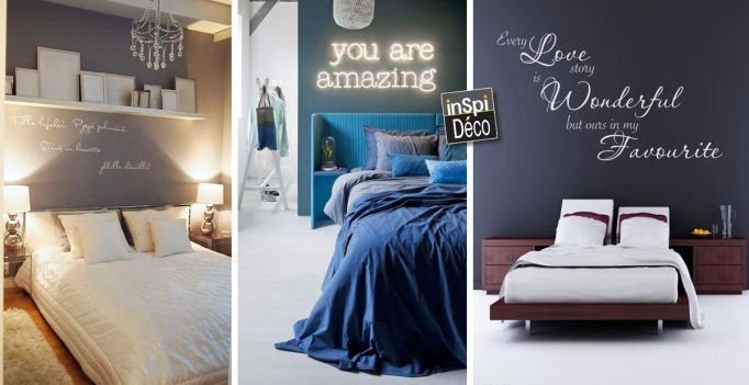 Idee deco chambre adulte tenture murale design de maison for Chambre a coucher decoration murale