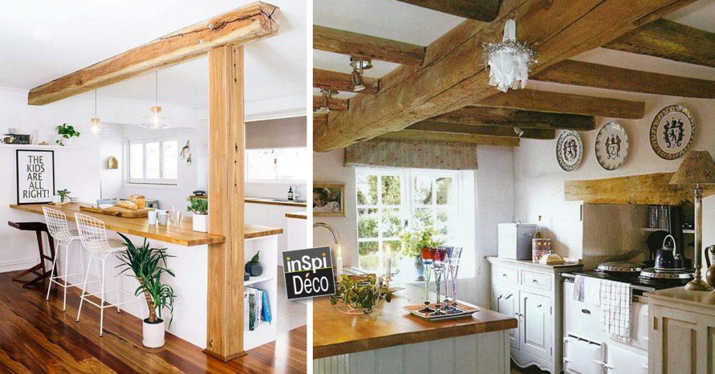 Combiner bois et blanc dans la cuisine! Voici 20 idées...