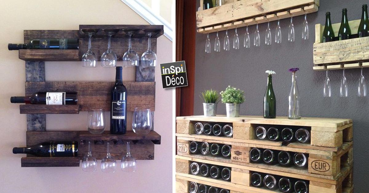 Meubles en palette de bois pour ranger votre vin 18 id es - Meuble en palette ...