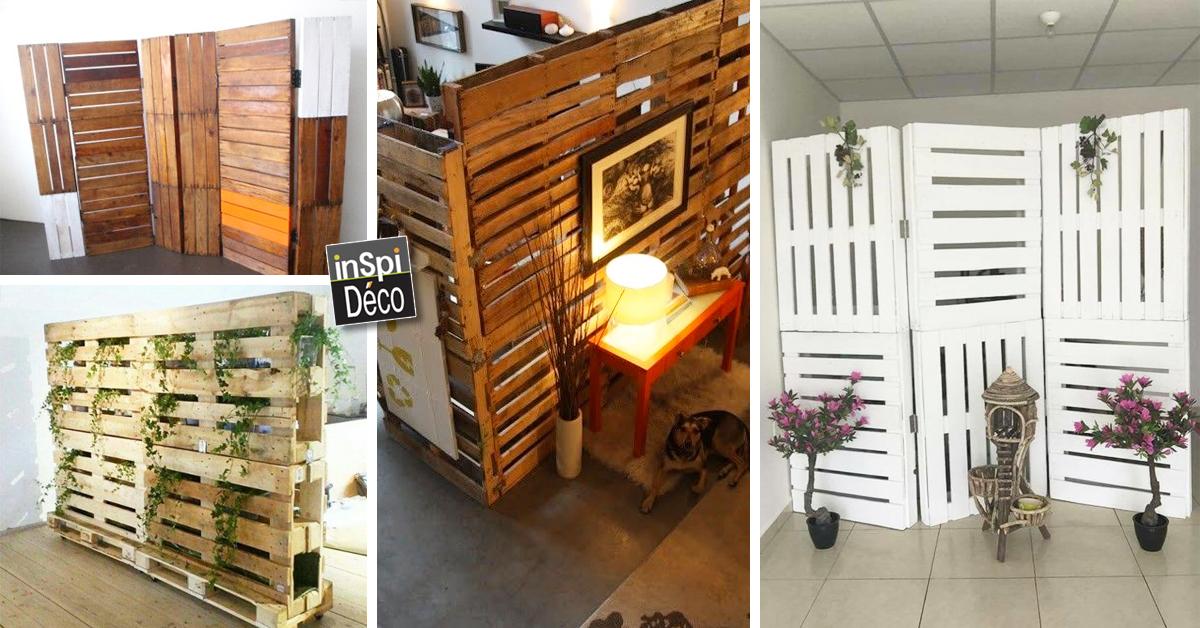 fabriquer un paravent exterieur Un paravent en bois de palettes! 20 idées pour vous inspireru2026