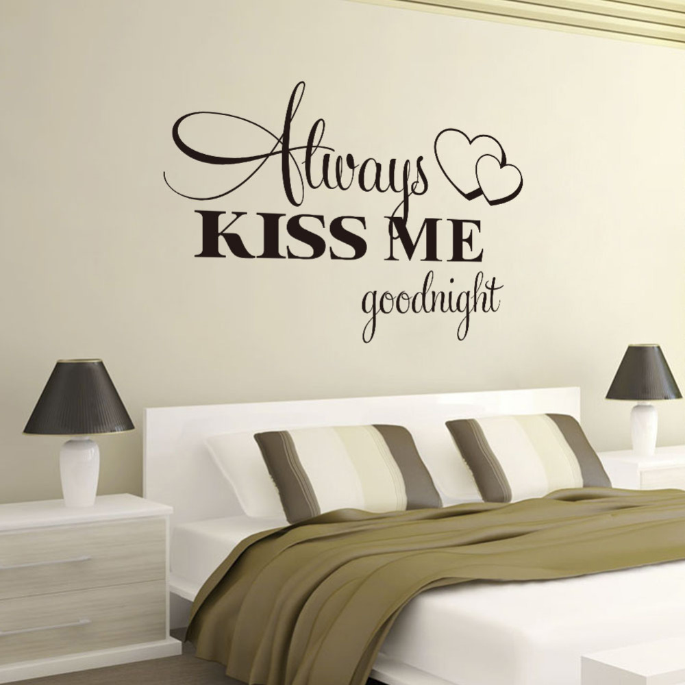 Wall writing in the bedroom! Here are 20 ideas...