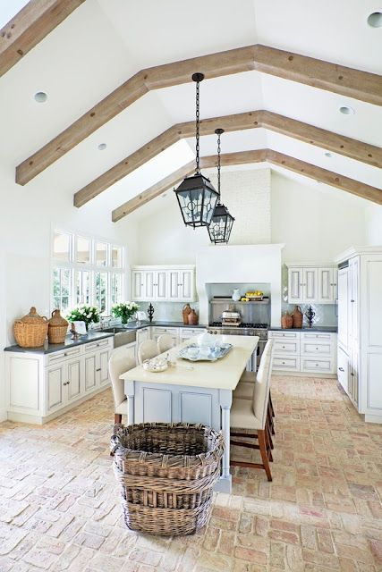 travi legno cucina bianca 11