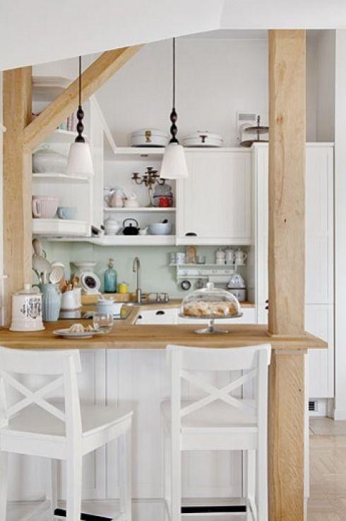 Combiner Bois Et Blanc Dans La Cuisine! Voici 20 Idées