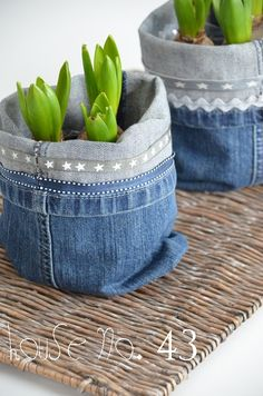 cache pot fai da te jeans