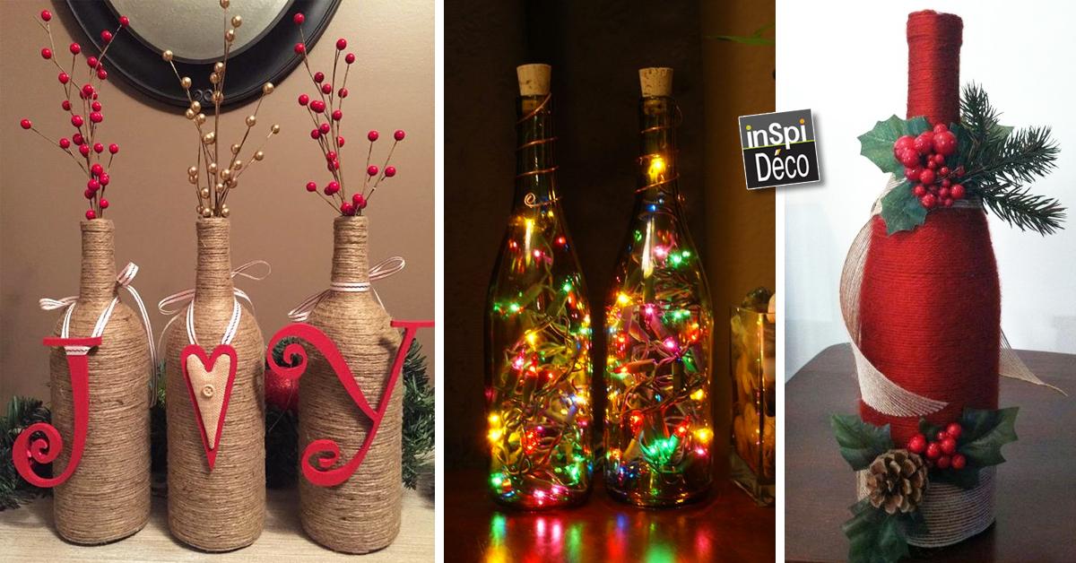 20 id es d co avec des bouteilles pour noel laissez vous inspirer. Black Bedroom Furniture Sets. Home Design Ideas