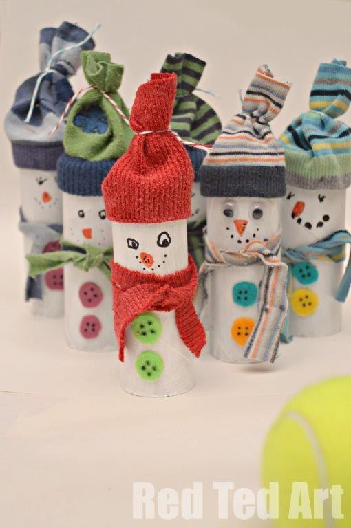 Recycler les rouleaux de papier toilette pour d corer - Decoration de noel avec rouleau papier toilette ...