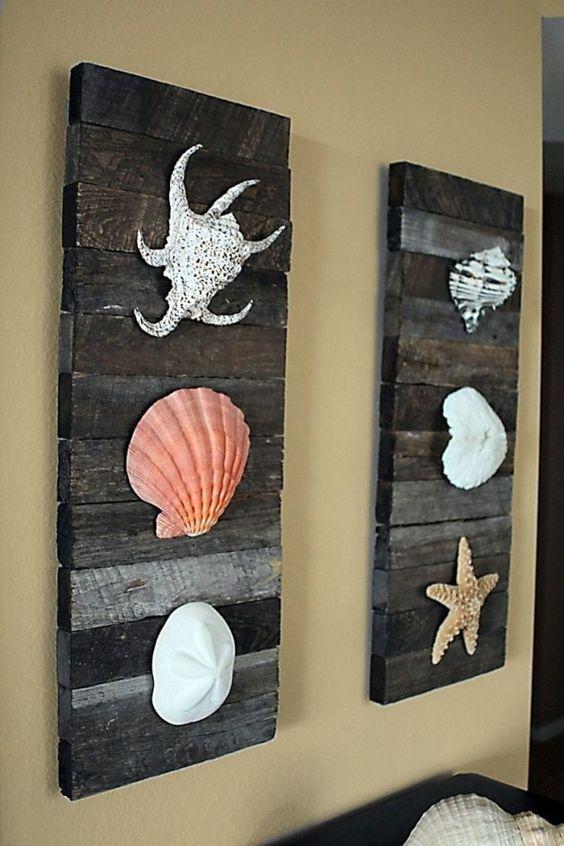 objets déco réalisés en bois de palettes