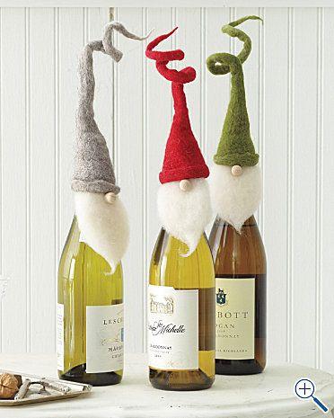 déco avec des bouteilles pour Noel