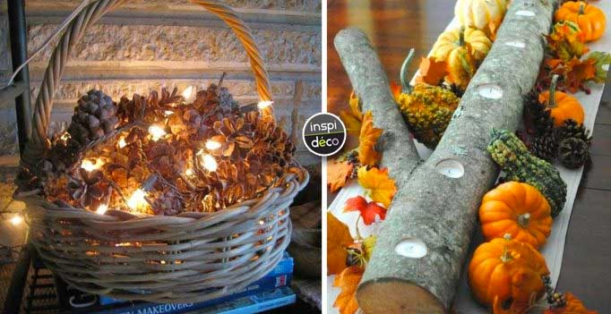 Troncs pommes de pin bougies voici 20 id es d co pour l - Creer des lampes originales ...