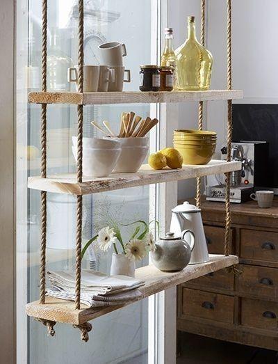 Des étagères suspendues très design pour votre intérieur! Voici 20 ...